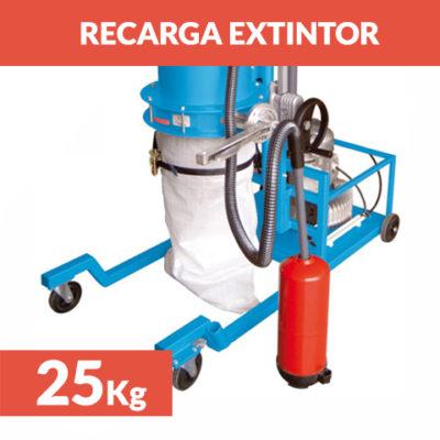 recarga extintor polvo 25 kg