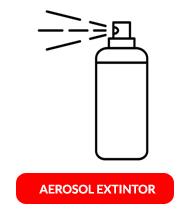 aerosol extintor en spray